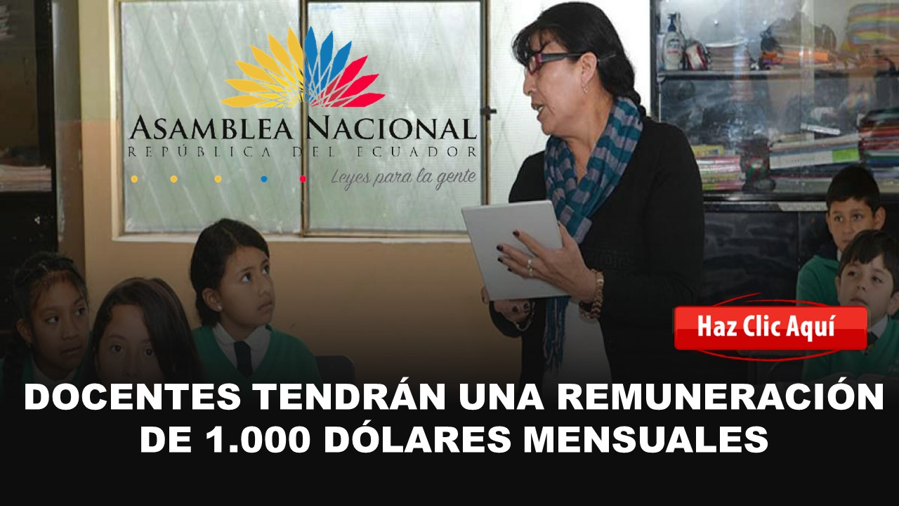 docentes recibirán 1000 mensuales
