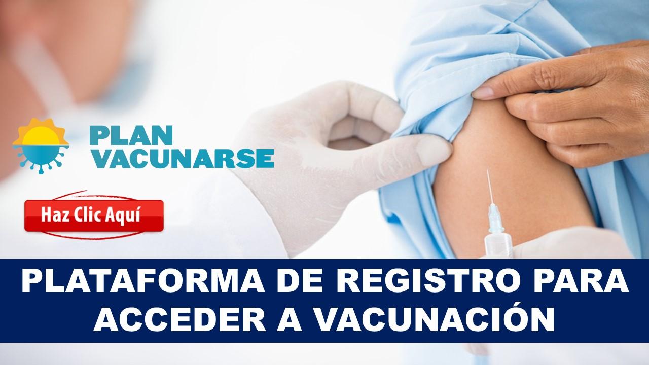 plataforma de vacunación