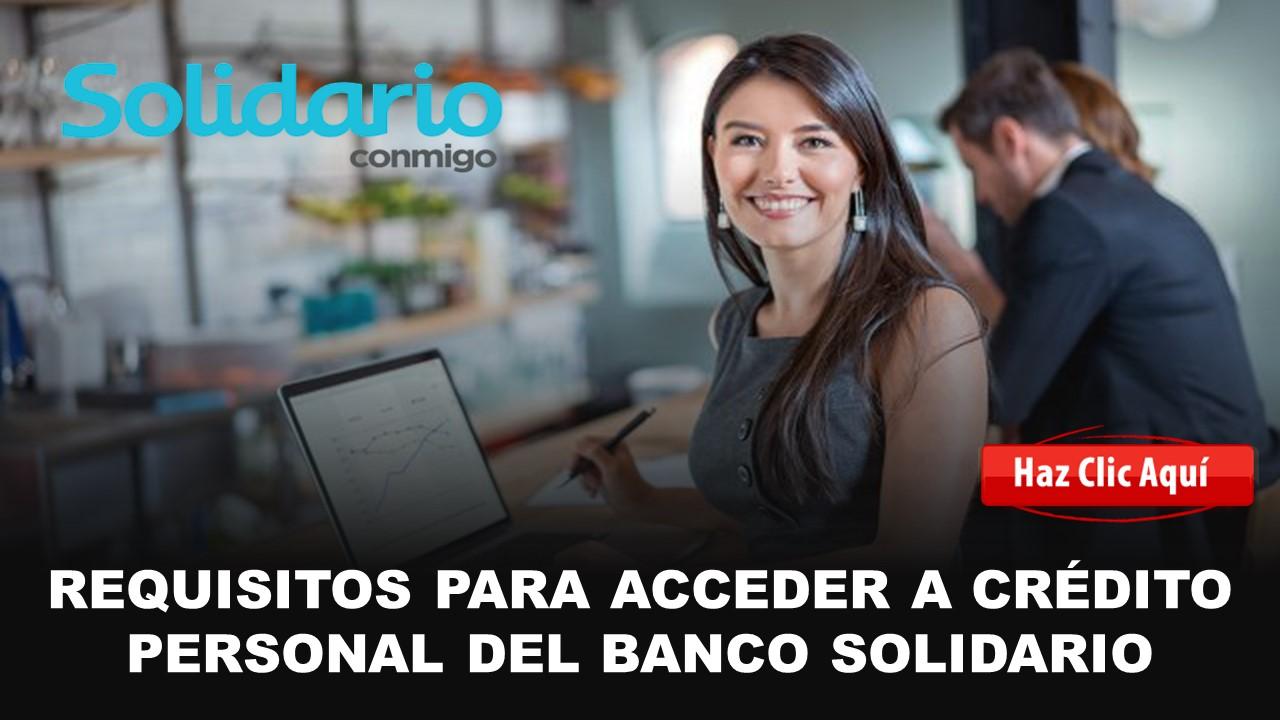 rapidito crédito personal banco solidario